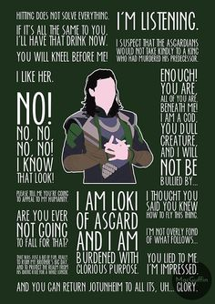 Avengers Quotes: Loki - Visit to grab an amazing super hero shirt now on sale!