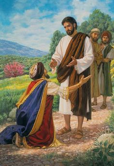 "Mark 10:17-23 - The rich man and Jesus. ""A man ran up and fell on his knees before him and put the question to him: ""Good Teacher, what must I do to inherit everlasting life?"" """