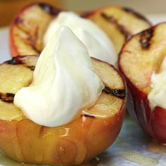 How to Make Grilled Peaches With Honey and Greek Yogurt - Food - Health.com Video