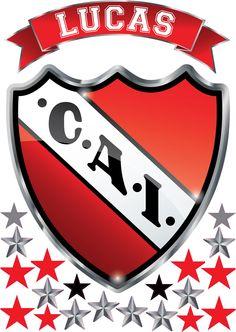 Vinilo Escudo Independiente Con Tu Nombre Personalizado