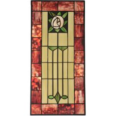 11.80 Inch W X 24.5 Inch H Pasadena Rose Stained Glass Window - Custom Made