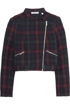 Elizabeth and James Patti quilted plaid jersey jacket | NET-A-PORTER