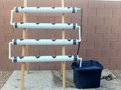 I'm not certain what the technical name for a hydroponic system like this would be, but I wanted to save this photo because it provides a clear reference for a concept I'd like to exper…
