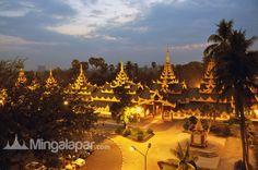 Pagodas in Myanmar Lights at night