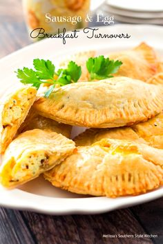 Sausage And Egg Breakfast Turnovers – Theseturnoversare stuffed with scrambled eggs, sausage and plenty of gooey cheese. Terrific forbreakfast on the go these savory hand pies will thrill your breakfast eaters and they're guaranteed to come back for more.