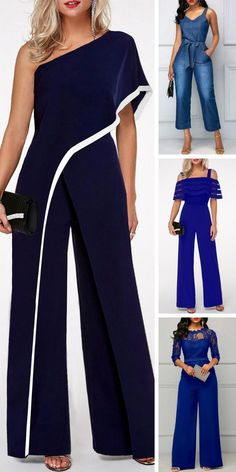 jumpsuits For Women Dame Chic, Latest Fashion For Women, Womens Fashion, Fashion Sewing, Diy Fashion, Dress Sewing Patterns, Mode Outfits, Easy Outfits, Pants Pattern