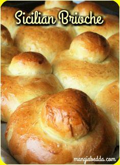 Authentic Sicilian Brioche, just like you ate in Sicily! - Authentic Sicilian Brioche, just like you ate in Sicily! Brioche Bread, Challah, Brioche Rolls, Yeast Bread, Croissants, Haitian Food Recipes, Italian Cookies, Italian Biscuits, Italian Cake