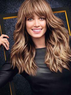 la tendance bronde les longueurs wavy et la frange blond cendr de helena - Coloration Bronde