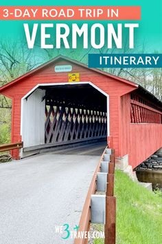 Follow this 3-day Vermont road trip itinerary for the perfect family vacation or New England girls' trip. Don't miss these stops at waterfalls, covered bridges, maple syrup shops, and dairy farms along these scenic byways. Family Road Trips, Family Travel, Outdoor Outfitters, New England Travel, Road Trip Hacks, Picnic Area, Covered Bridges, Maple Syrup, Waterfalls