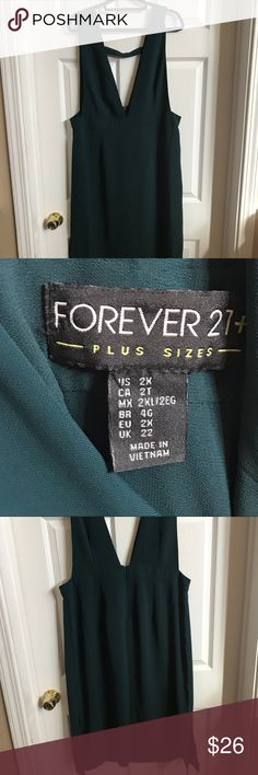 Forever 21 Forest Green overall dress jumper 2x Forever 21 Forest Green overall dress jumper 2x Forever 21 Dresses Midi