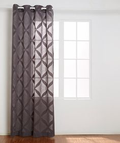 Look at this Gray Garrison Lace Grommet Panel on #zulily today!