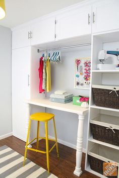 Diy Laundry Room Storage The Home Depot
