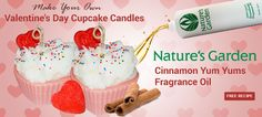 Valentine's Day Cupcake Candles...make your own.  Free Recipe!!   #candles  #candle  #cupcakecandle  #valentinescandle