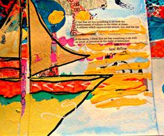 Dream Boat Mixed Media Original 5x7 Peace Lives by RobinNorgren on etsy - FABULOUS - love it!