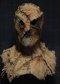 My handmade Scarecrow masks have been featured in several award-winning films and are worn in countless haunted attractions across the country each year. Scarecrow Mask, Scarecrow Costume, Halloween Scarecrow, Halloween Masks, Halloween Halloween, Halloween Makeup, Creepy Masks, Cool Masks, Burlap Halloween