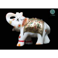 Name : Marble elephant Price : Rs 449 Buy now at : http://www.indikala.com/decor/marble-elephant.html #Antiques #Idols #Figurines #Decor