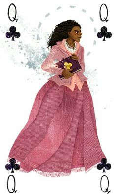 Angelica Schuyler as the Queen of Clubs by http://twitter.com/birdloaves