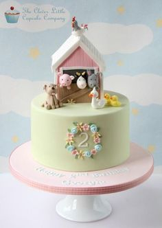 Farm Birthday Cakes Girls 2nd Cake Animal Parties