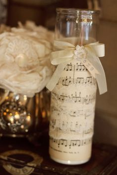 music sheet candle