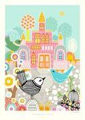 Majvillan Poster Blueberry Bird