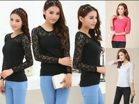 lace sleeve t shirt