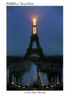 100 year anniversary of the Eiffel Tower. Paris, France.