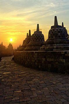 Borobudur Temple, Central Java, Indonesia.