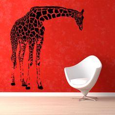 Black Giraffe Vinyl Sticker Wall Art - Overstock Shopping - Big Discounts on Wall Decals