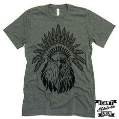 American Eagle Headdress. July 4th T shirt. Unisex Tee.