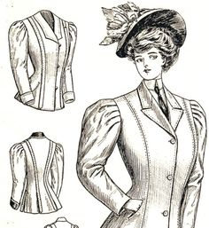 """""""There is great variety in the outdoor wraps for the coming season. All figures are suited, and if a woman cannot get a becoming jacket this..."""