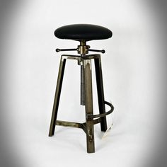 Industrial Furniture, Industrial Style, Bar Chairs, Bar Stools, Metal Projects, Man Cave, My Design, Barbecue, Leather