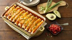 Beef Enchiladas recipe and reviews - Don't be daunted by making restaurant-style enchiladas. These are in and out of the oven in less than an hour! Make it your way with the variation below.