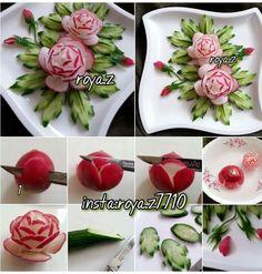 Fruit And Vegetable Carving, Veggie Tray, Fruit Decorations, Food Decoration, Buffet Original, Deco Fruit, Edible Fruit Arrangements, Food Garnishes, Garnishing