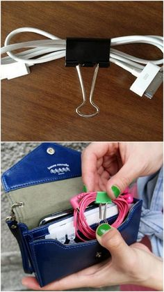 32 Ways A Binder Clip Can Make Your Life Easier And More Organized. Neatly Wrap, Shorten, and Store Cables