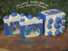 Blueberry Bliss Soap Bars by SweetSoftSkin on Etsy