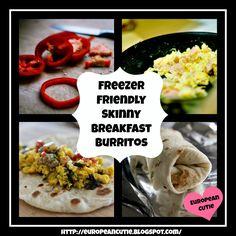 Freezer Friendly Skinny Breakfast Burritos on MyRecipeMagic.com