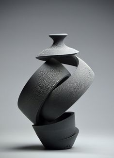 For Sale on - Ribbon: Crawl IV, Earthenware, Glaze by Michael Boroniec. Offered by Lyons Wier Gallery. Abstract Sculpture, Sculpture Art, Ceramic Pottery, Ceramic Art, Zen Pictures, Cement Crafts, Vases, Contemporary Sculpture, 3d Prints