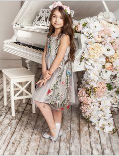cac255d1c60476e |A15 платье для девочек 2017 Летнее платье принцессы свадебное кружевное  платье с цветочным рисунком для девочек белые детские платья для девочек  вечерние ...