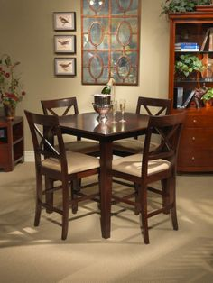 5-pc Crosswinds Square Counter Height Table Dining Room Set