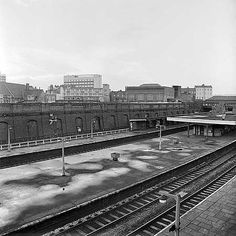 Kentish Town Railway Station, Kentish Town Road, looking south east across the roofs and platforms of Kentish Town Station Kentish Town Church Primary Schoolbackground