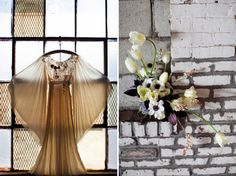 A Whimsical Warehouse Elopement  For Wedding Accessories,visit us.  http://www.bridesadvantage.com