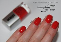 fall in ...naiLove!: Easy Strawberry nails Tutorial: Donegal Red Ribbon.