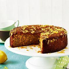 Gluten-free lemon polenta cake