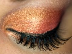 Orange Eye Makeup for Multiple Sclerosis Awareness- beautiful. But it's her story that makes it perfect...