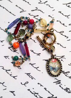 Spring necklace butterfly music bright by LeRoseFamilyJewels