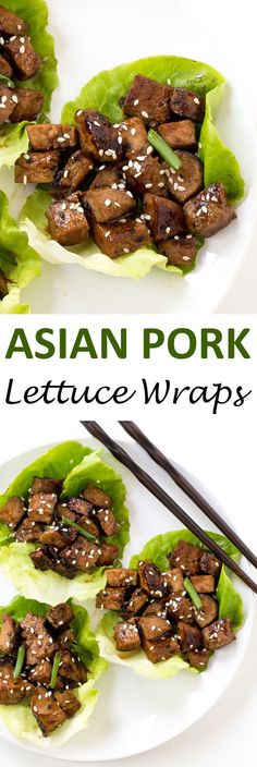 Easy 30 Minute Asian Pork Lettuce Wraps! Grilled pork tossed with an amazing…
