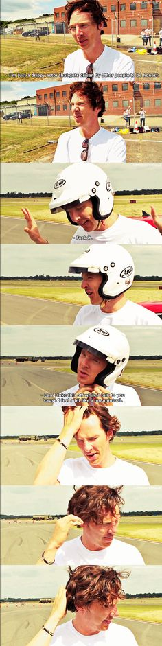 Behind the scenes of TopGear, fingers in his hair *unf* <---- And that nose wrinkle!!!