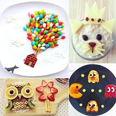 Bon Appétit! 13 Incredible Food Art Ideas For Kids. Now these are some cool dishes that I wish my mom made for me...