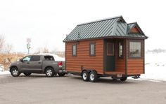 The Blue Sky model is the smallest, fully self-contained tiny house that Open Trail Homes it has. They took ideas from the tiny house movement on the internet, added the qualities of a well-built house, infused it with the all the amenities of a full-service RV, then finished it off with an artistic, rustic flare. Approaching the Blue Sky tiny house puts a smile on your face and the face of every visitor that you receive.
