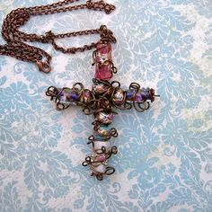 Bead and Wire Cross